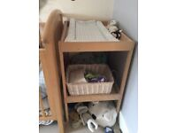 Baby changing table, light pine, great condition