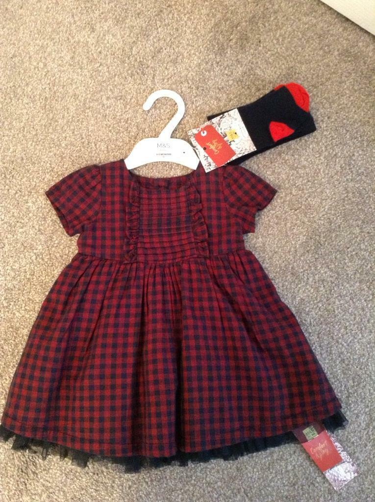 a8ca448de BRAND NEW BABY GIRLS M&S CHRISTMAS DRESS 3-6MONTHS ...