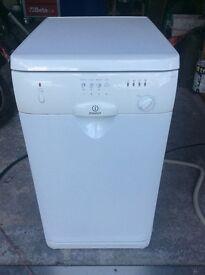 Indesit slimline dishwasher 450mm wide. As new!