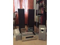 Surround sound, amplifier and audio speakers