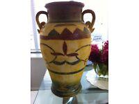 Terracotta Mediterranean garden/ conservatory urn pots x 3