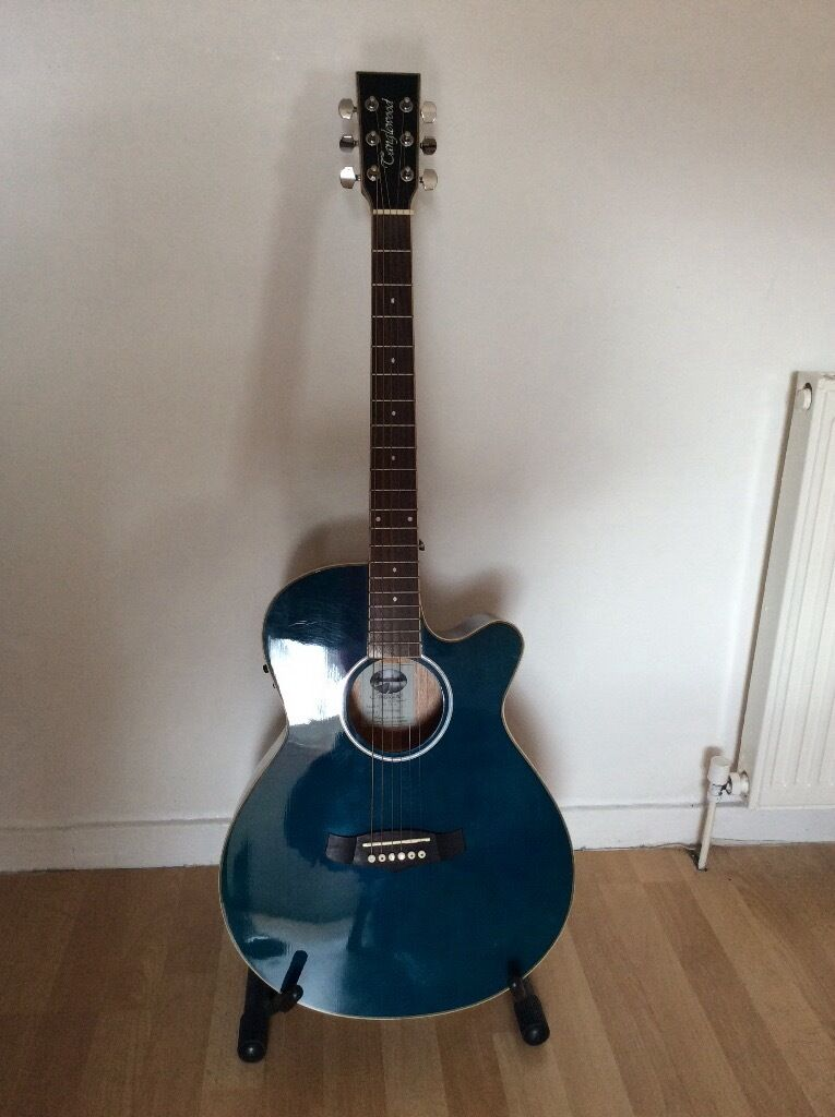 Tanglewood TSF CE Evolution Dark Blue Electro Acoustic Guitar And Gig Bag