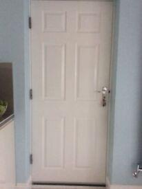 White panel fire door