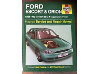 Haynes Workshop Manual For Ford Escort & Orion 90-97