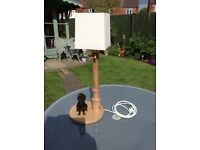 Lamp. Dog and lamp-post table lamp.