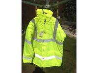 Large Hi Viz Quilted coat New with tags