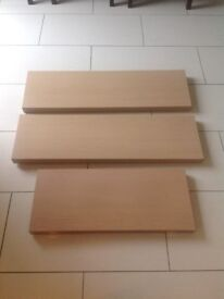 3 oak shelves for sale