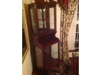 Solid mahogany display cabinet