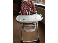 Red highchair