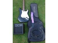 Squier Affinity Strat electric guitar with quiality accessories.