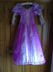 Disney Store age 7-8 Rupunzel dress and head piece, Excellent