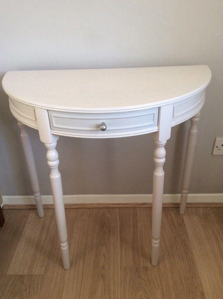 Half drum shabby chic table