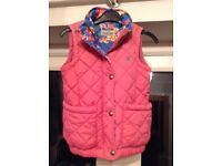 Girls pink Joules body warmer / gillet. Age 6. £5