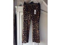 OUI Ladies Animal Pattern Trousers