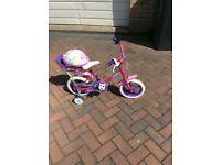 Little Girls Bike and Helmet
