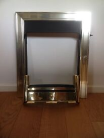 Solid brass fire trim and grate for sale