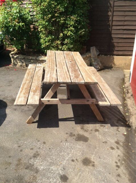 Tremendous 5Ft Teak Picnic Bench In Sidmouth Devon Gumtree Dailytribune Chair Design For Home Dailytribuneorg