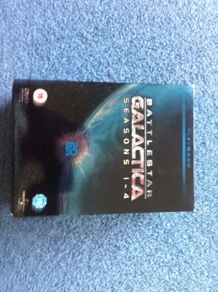 Battlestar Galactica complete box set series 1 4 20 DVD packin Corfe Mullen, DorsetGumtree - Battlestar Galactica complete box set series 1 4 20 DVD pack, excellent condition as new. £15, excellent condition as new. £15