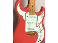 Burns Marquee guitar in fiesta red. Good condition, collection only.