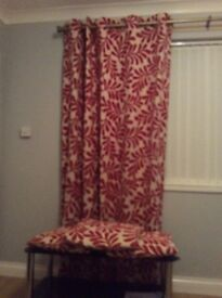 Red and cream curtains from next