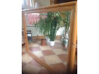 Extra large pine framed mirror.........Belfast