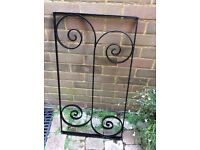 Four Black Wrought iron panels