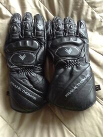 Frank Thomas Leather Winter Gloves. As new.