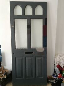Beautiful reclaimed front door