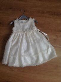 Cream special occasion dress age 2