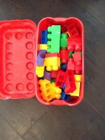 Box of mega blocks