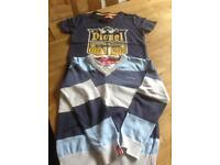 Diesel jumper and t shirt