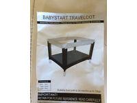 BABYSTART TRAVELCOT IN CARRYING CASE. BRAND NEW