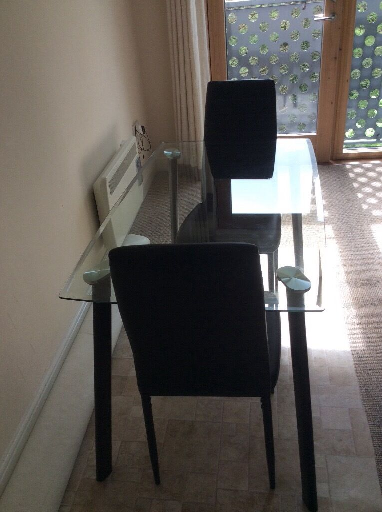 Dining Table Three Chairs And Coffee For Sale