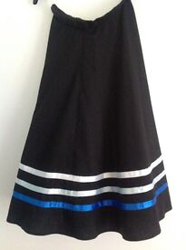 Dance Character Skirt with blue ribbons