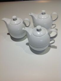 White China Tea for One Sets x 3