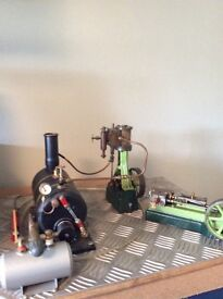 Steam engines models and boiler