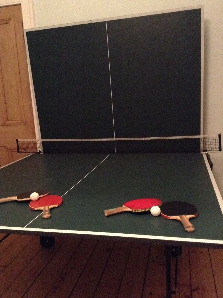 Full size ping pong table tennis table 4 bats in old town edinburgh gumtree - Gumtree table tennis table ...