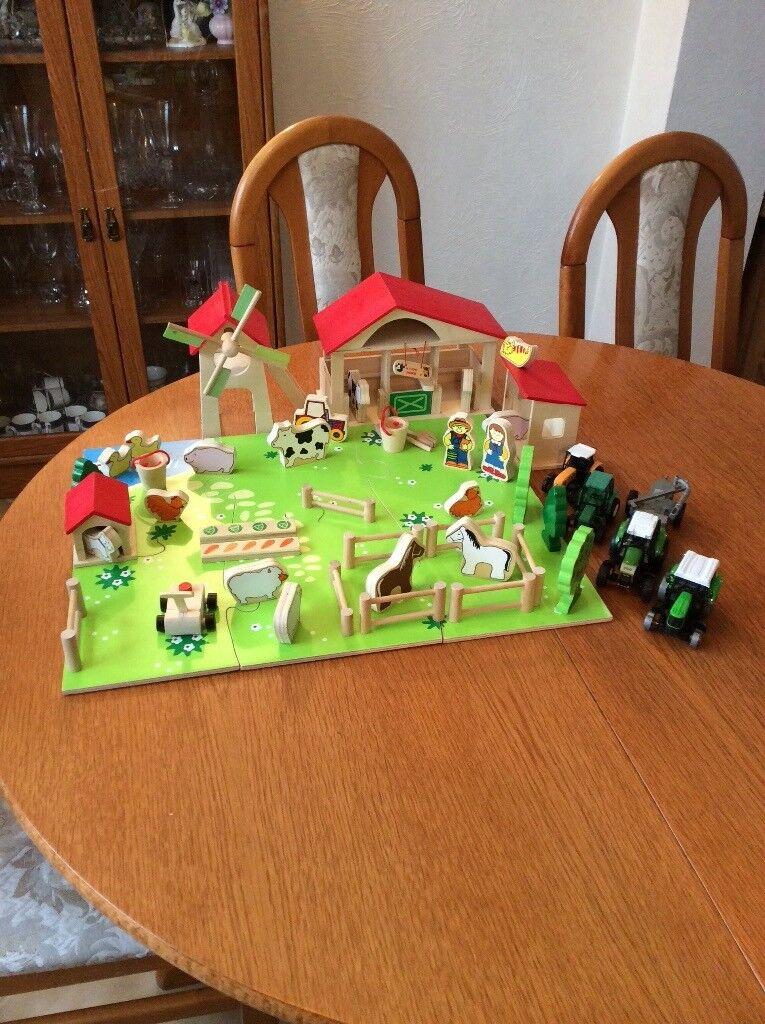 Wooden farmyard set