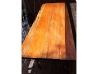 Old Antique Trestle Table