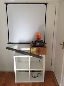 Slide Projector and Screen