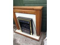Electric Fire, Hearth and Mantlepiece