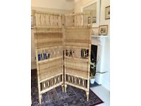Bamboo Privacy Screen/Room Divider x 2