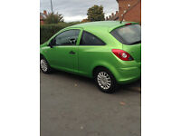 Bright Green Vauxhall 2012 Corsa Ecoflex Perfect condition 38000 miles Year MOT full service history