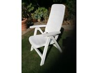 Used white plastic Reclining chair