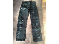 Motorcycle ladies black Richa Leathers size 14