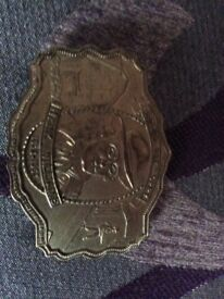 Hank Williams gold belt buckle