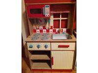 Deluxe Wooden Toy Kitchen