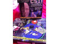 CSI: Fingerprint Examination Kit *ALSO* CSI: Forensic Facial Reconstruction Kit