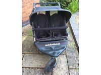 Double Pushchair - Out n About Nipper 360 v2