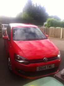 Red VW Polo Match Edition